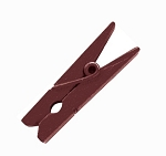 Mini decorative wood clip brown (pk12)