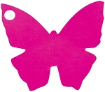 Butterfly tags fuchsia (10/pk)