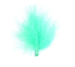 Turquoise mini feather packs (20 per pack )