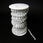 8 mm White pearls on roll 22 yards (66 feet)