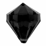 CLEAROUT Medium diamonds 1.8 x 2.8 cm  (pack of 6) BLACK