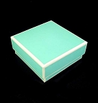 Berkeley Gift/Jewelry box  MINI 3x3x1.25 Tiffany style blue