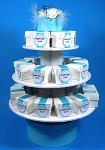 Small 3 tier cupcake stand white