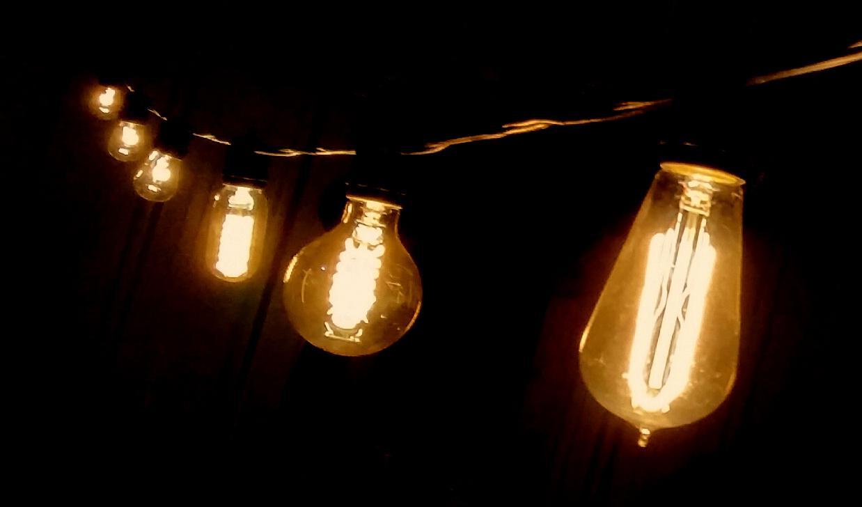Edison Type String Lights : paper lanterns, ottawa wholesale, weddings by pritchard