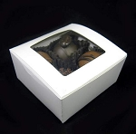 4 truffle box WINDOW 2.5 x 2.5 x 1.25