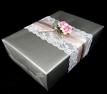 Gift wrap 24: x 50' roll Sterling Silver