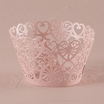 Cupcake wrappers shimmer PINK Filligree (12/pk)