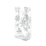 Cellolike 3.5x2x7.5 candy Bags Silver Snow