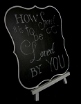 large chalk board for easel 12 x 10