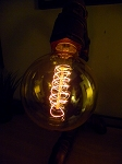 40-Watt Incandescent G95 Globe Vintage Edison Light Bulb, Spiral Filament, E26 Medium Base
