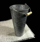 Galvanized Flower Market Bucket with Handle 9-1/2
