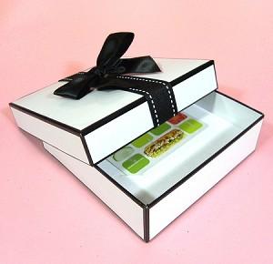 Berkeley Gift Jewelry Box Medium Gift Card 5 X 5 X 1 5 White
