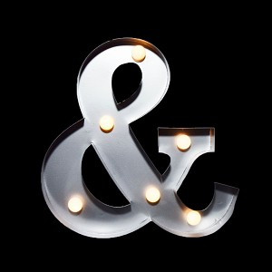 "10"" Marquee Light Letter LED Metal Sign Battery Operated *&*"