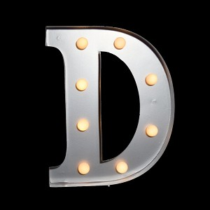 "10"" Marquee Light Letter LED Metal Sign Battery Operated * D *"