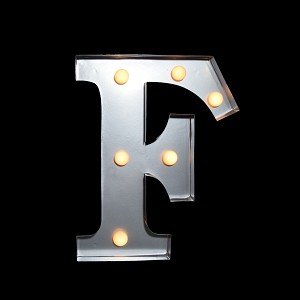 "10"" Marquee Light Letter LED Metal Sign Battery Operated * F *"